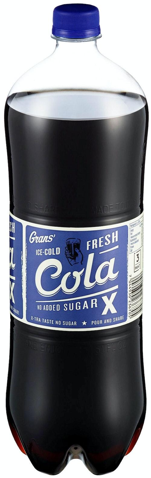 Grans Bryggeri Cola X Uten Tilsatt Sukker, 1,5 l
