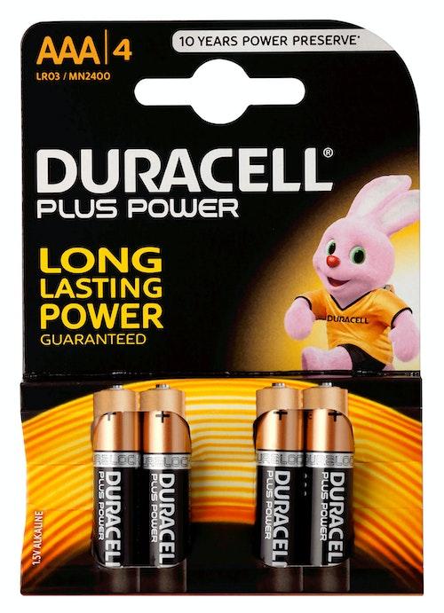 Duracell Batteri AAA Plus Power 4 stk