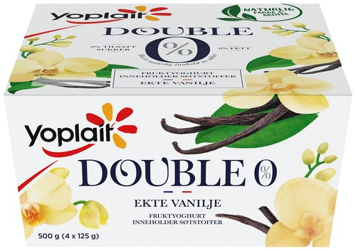 Yoplait Yoplait 00% Vanilje, 4x125g, 500 g