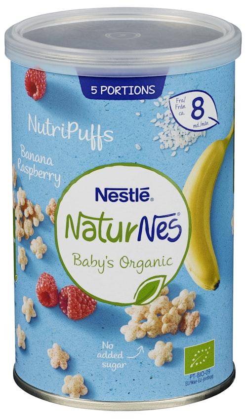 Nestlé Naturnes Nutripuffs Raspberry fa 8 mnd, 35 g