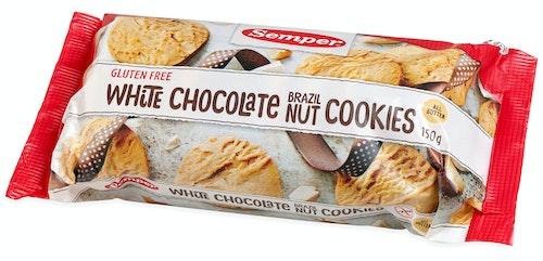 Semper White Choco Nut Cookies Glutenfri, 150 g