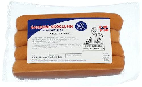 Åkeberg & Skoglunn Kylling Grillpølse 6 Stk, 400 g