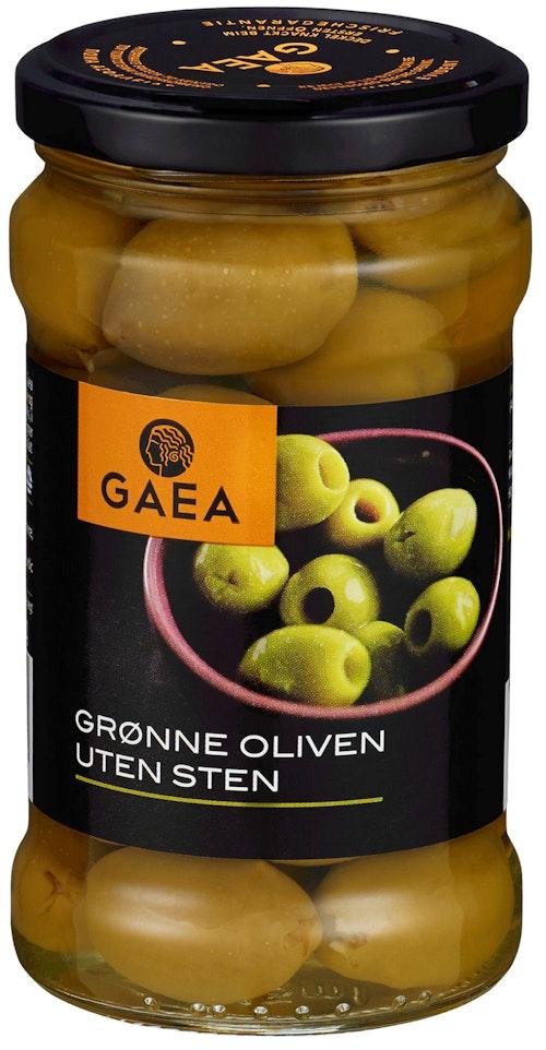 Gaea Grønne Oliven Uten Sten 290 g