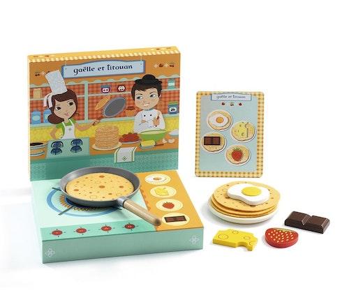 Djeco Kokeplate pannekakefrokost, lekemat i tre 1 stk