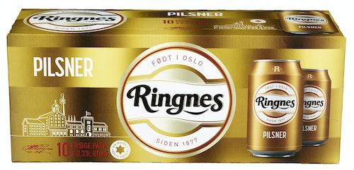 Ringnes Ringnes Pilsner 10 x 0,33l, 3,3 l