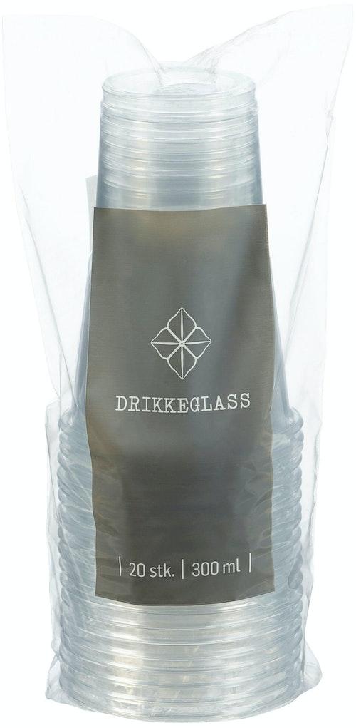 REMA 1000 Drikkeglass Plast 330 ml, 20 stk