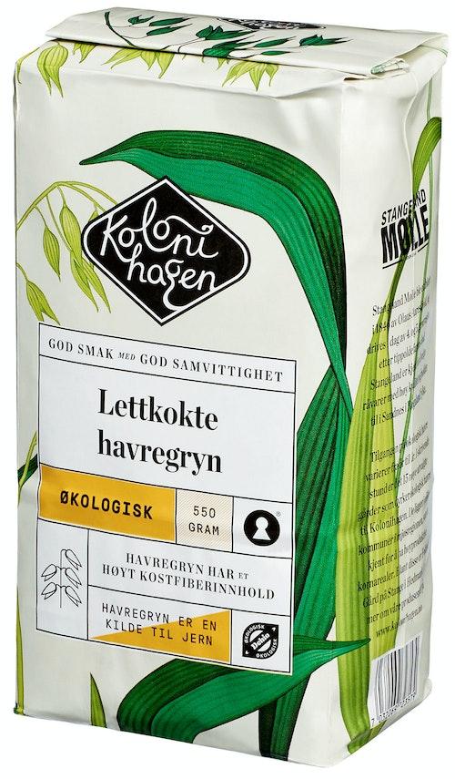 Kolonihagen Havregryn Lettkokte Økologisk, 550 g