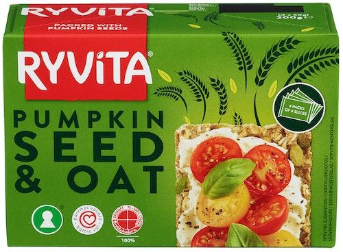 Ryvita Ryvita Gresskarfrø & Havre Knekkebrød, 200 g