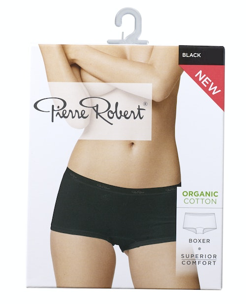 Pierre Robert Cotton Boxer Black, str. XL, 1 stk