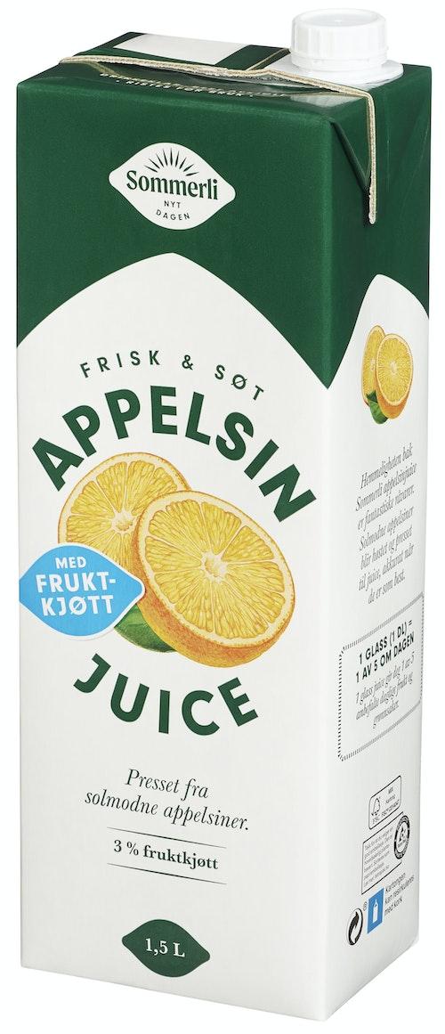 Sommerli Appelsinjuice Med Fruktkjøtt Premium 1,5 l