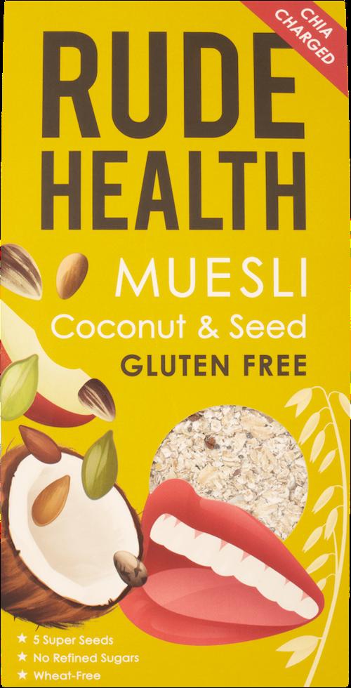 Rude Health Coconut & Seed Muesli Glutenfri, 500 g