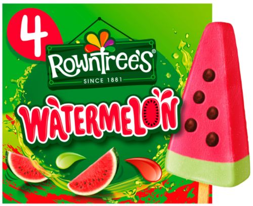Rowntree's Ispinne Vannmelon 4 stk, 292 ml