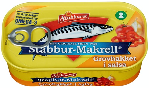 Stabburet Makrell Hakket i Salsa 110 g