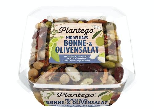 Plantego Middelhavsalat Med Bønner & Oliven 300 g