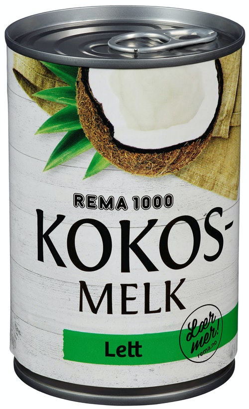 REMA 1000 Kokosmelk Lett 400 ml