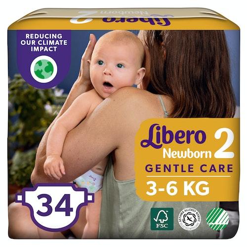 Libero Libero Newborn Str.2 3-6 kg, 34 stk