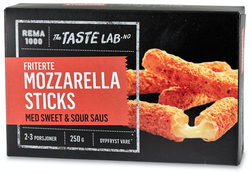 REMA 1000 Mozzarella Sticks Taste Lab, 250 g