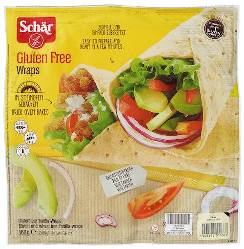 Schär Wraps Glutenfri ca 26,5 cm 2x80g, 160 g