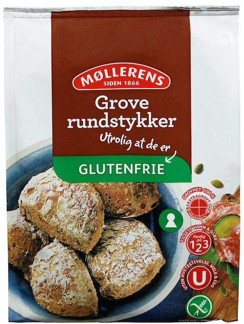 Møllerens Grove Rundstykker Glutenfrie, 405 g