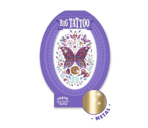 Djeco Stor tatovering med sommerfugl 1 stk
