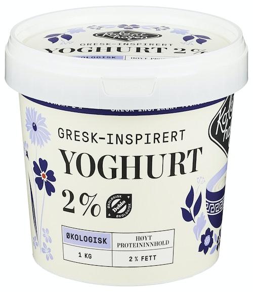 Kolonihagen Yoghurt Naturell 2% Gresk inspirert, 1 kg