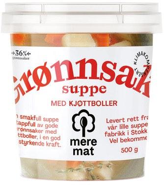Mere Mat Grønnsaksuppe med Kjøttboller, 500 g