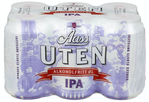 Aass Bryggeri Aass Uten IPA 6x0,33l, 1,98 l