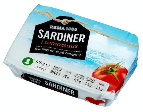 REMA 1000 Sardiner I Tomatsaus 105 g