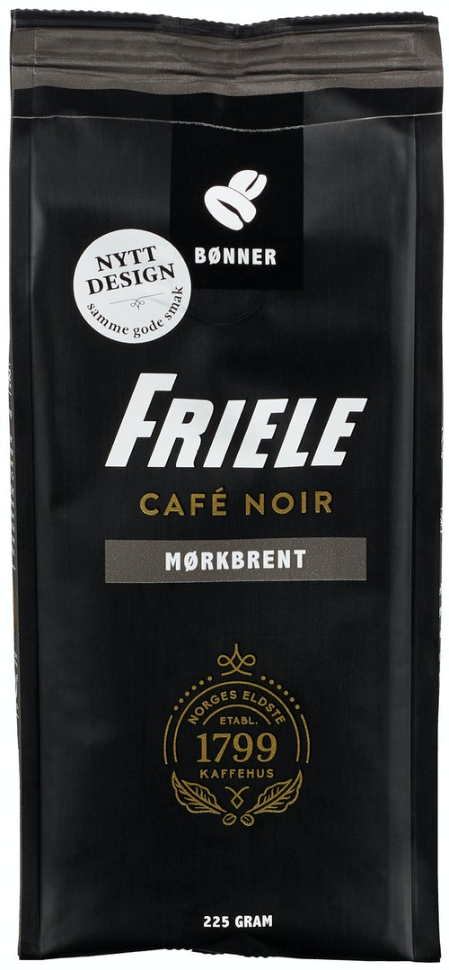 Friele Cafe Noir Dark Fusion Hele bønner, 225 g