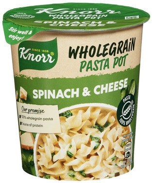 Knorr Knorr Snack Pot Wholegrain Spinach & Cheese 1 stk