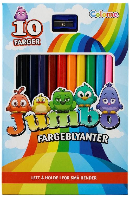 Fargeblyanter Jumbo 10 stk