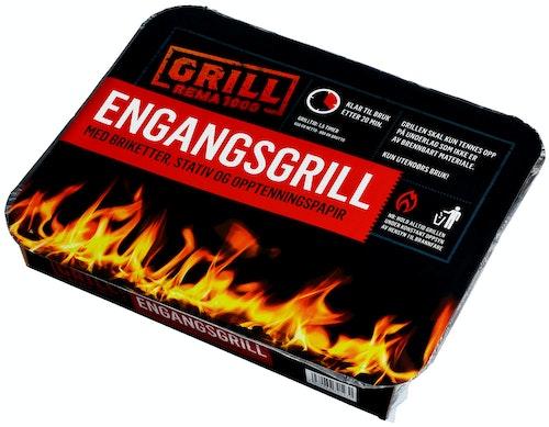 REMA 1000 Engangsgrill 1,5 timer grilltid, 1 stk