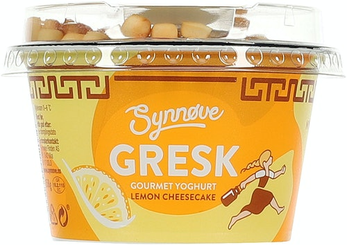 Synnøve Synnøve Gresk Yoghurt Lemon Cheesecake 158 g