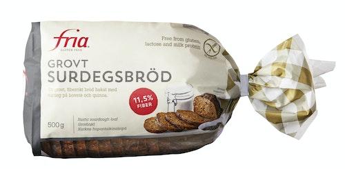 Fria Grovbrød med Surdeig Glutenfri, 500 g