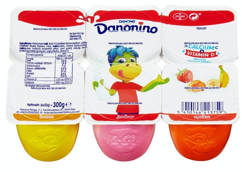 Danonino Yoghurt Mix No1 6x50g, 300 g