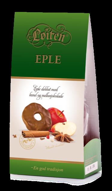 Løiten Fruktsjokolade Eple & Kanel 120 g