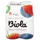 Biola Mini Laktosefri Jordbær og Blåbær