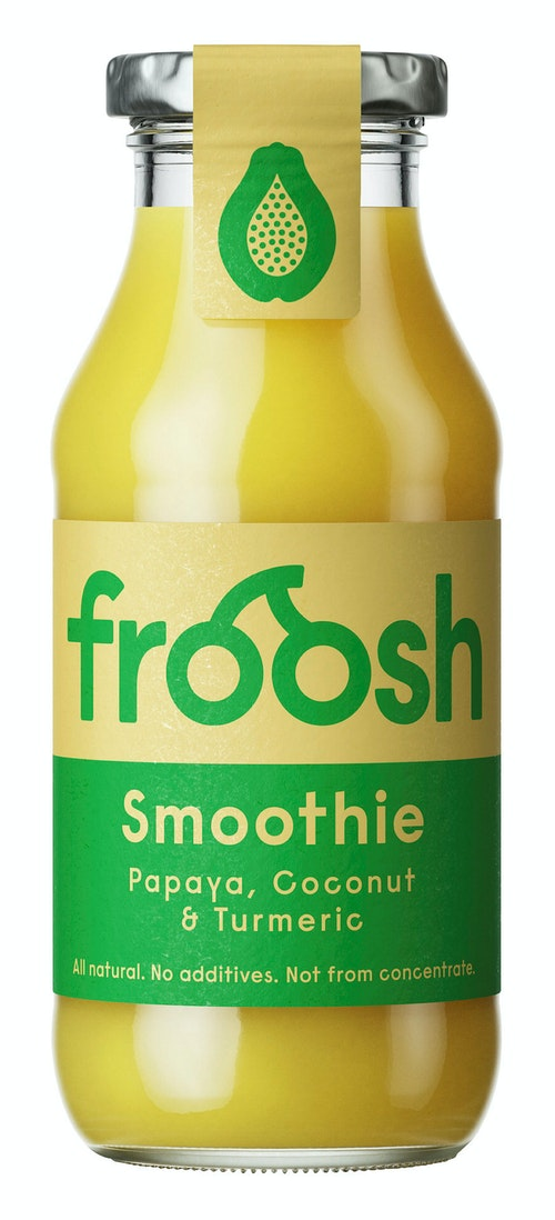 Froosh Smoothie Kokosmelk, Papaya & Gurkemeie 250 ml
