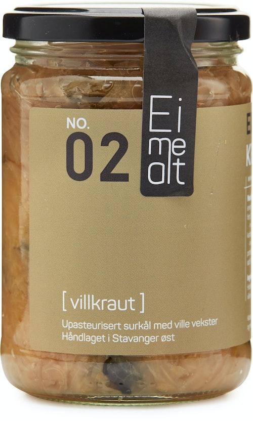 Eimealt Villkraut Upasteurisert Surkål, 390 ml