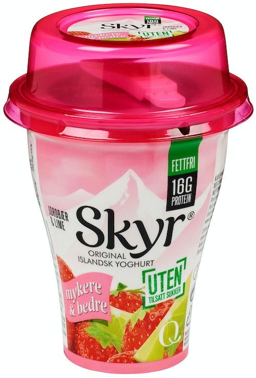 Q-meieriene Skyr Jordbær & Lime 160 g