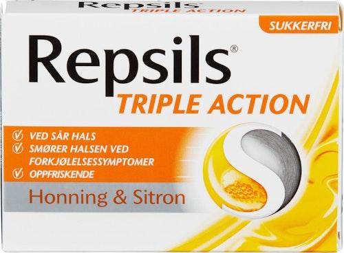 Repsils Halstabletter med Honning & Sitron Sukkerfri, 60 g