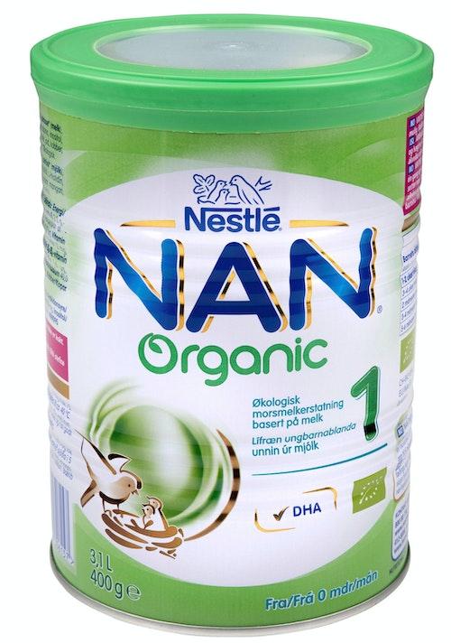 Nestlé Nan 1 Økologisk Fra 0 mnd, 400 g