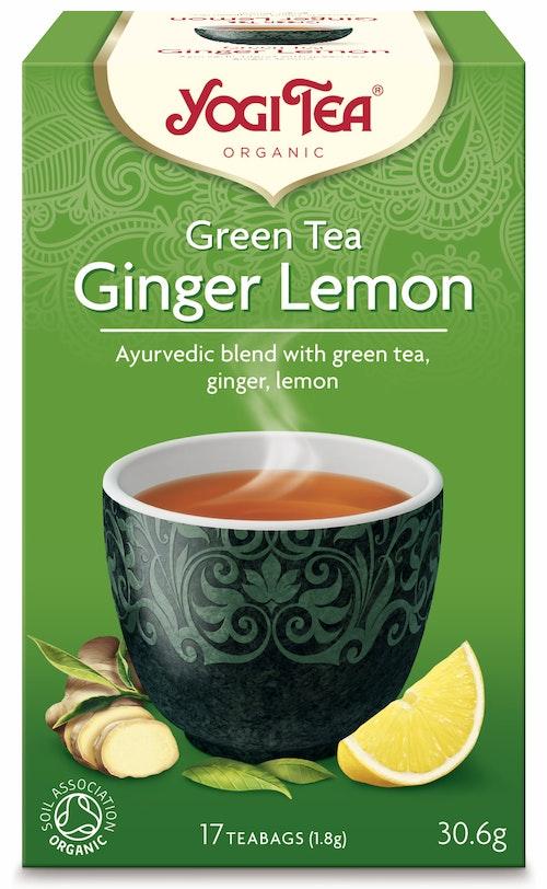 Yogi Yogi Tea Green Tea Ginger Lemon Økologisk, 17 stk