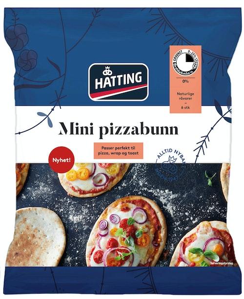 Hatting Mini Pizzabunn 6 stk, 390 g
