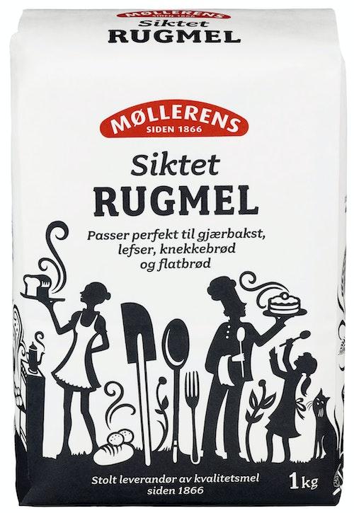 Møllerens Rugmel Siktet 1 kg
