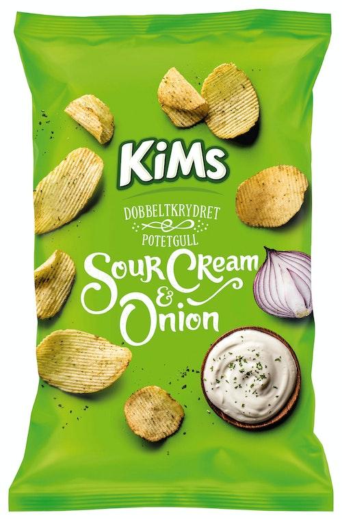 Kims Potetchips Sourcream & Onion 250 g
