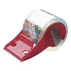 Pakketeip med dispenser, transparent