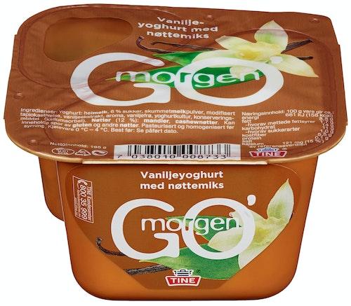 Tine Go' Morgen Vaniljeyoghurt med nøttemix, 195 g