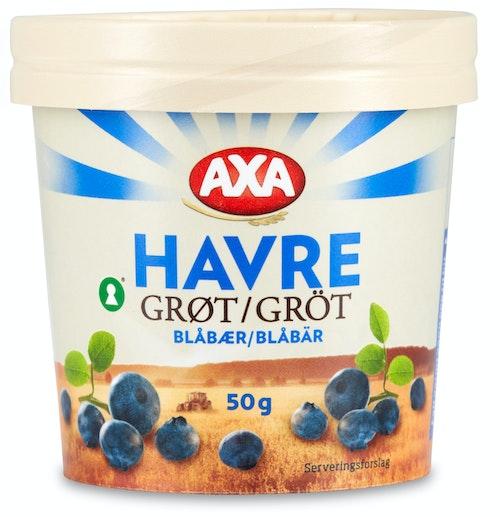 AXA Havregrøt Blåbær Beger 50 g