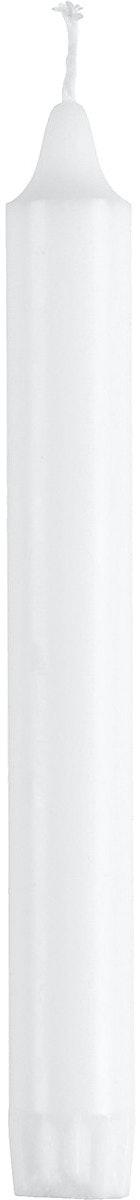 Clas Ohlson Kronelys hvit, 19 cm 100% stearin, 20 stk, 20 stk